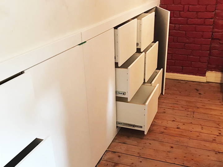 Attic Storage Solution - Drawers Fitted Seamlessy into The Eaves