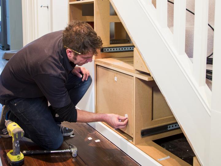 Installing an Under Stairs Storage Unit
