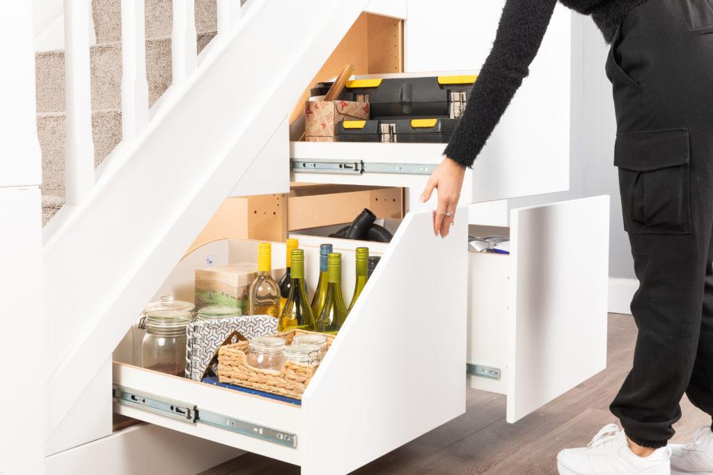3 Drawer Unit - Under Stairs Storage Solution