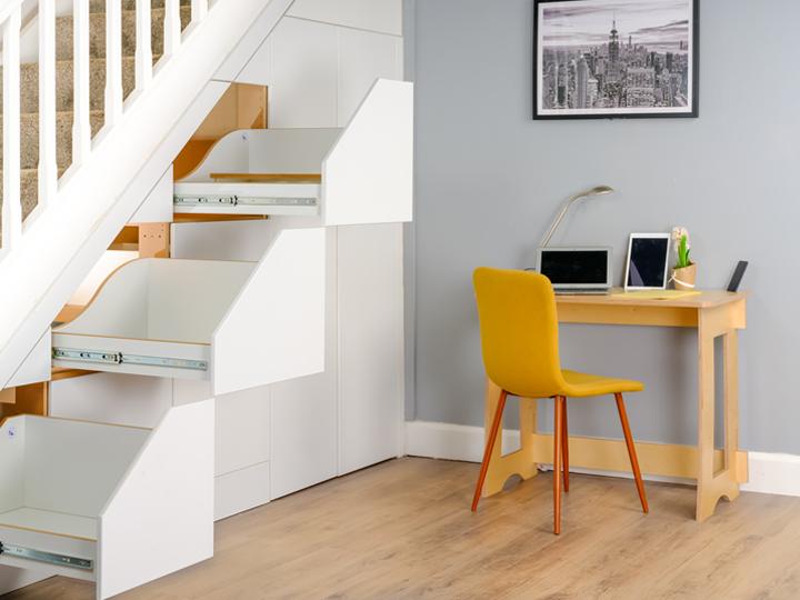 60 Sec Desk and under stairs storage unit