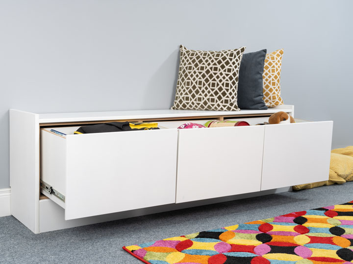 Kids Storage Bench for Bay Windows and Alcoves